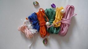 Cordes et perles Photos stock
