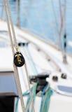 Cordes et poulies, détail Photos stock