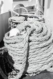 Cordes nautiques sur le fond de plate-forme de bateau dans Philipsburg, Sint Maar Photographie stock