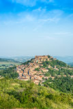Cordes-sur-Ciel, France from eastern viewpoint Stock Photos