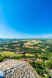 Cordes-sur-Ciel, France from Saint Michel belltower Royalty Free Stock Photography