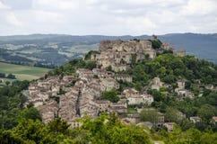 Cordes-sur-Ciel, Frankrijk Royalty-vrije Stock Foto