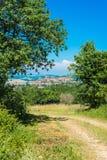 Cordes-sur-Ciel, Southern France. Stock Photography