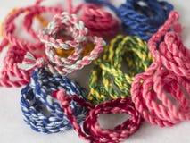 Cordes tordues colorées Photographie stock libre de droits