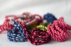 Cordes tordues colorées Photos libres de droits