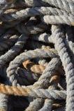Cordes utilisées image libre de droits
