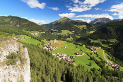 Cordevole valley with Laste Royalty Free Stock Images