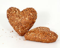 Cordially i crispy chlebowe rolki obraz stock