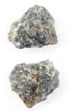 Cordierite opaque on a white background. Royalty Free Stock Image