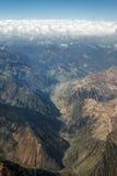 Cordigliera de Los le Ande Immagini Stock
