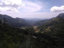 Cordilheira Badulla Sri Lanka Foto de Stock