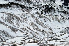 Cordilheira coberto de neve Imagem de Stock Royalty Free