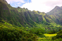 Cordilheira de Ko'olau, Oahu, Havaí Imagens de Stock Royalty Free