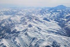 Cordilheira de Los Andes foto de stock