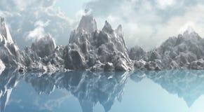 Cordilheira do gelo Imagem de Stock