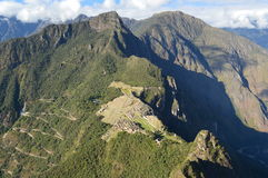 Cordilheira dos Andes. Angles Machu Picchu in Peru Royalty Free Stock Photos
