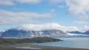 Cordilheira em Hornsund, Svalbard Imagem de Stock Royalty Free