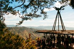 Cordilheira Mountain View em minas veem o parque, cidade de Baguio, phi fotos de stock royalty free