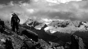 cordiliera Περού BLANCA Στοκ φωτογραφία με δικαίωμα ελεύθερης χρήσης