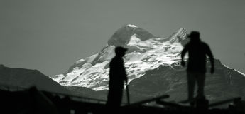 Cordiliera Blanca - Peru. Mountains from Cordiliera Blanca - Peru Stock Photos