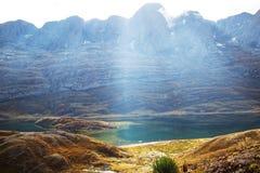 Cordillera. Beautiful mountains landscapes in Cordillera Huayhuash, Peru, South America Royalty Free Stock Photo