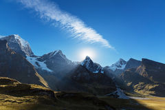 Cordillera. Beautiful mountains landscapes in Cordillera Huayhuash, Peru, South America Stock Photos