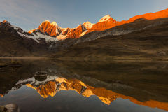 Cordillera. Beautiful mountains landscapes in Cordillera Huayhuash, Peru, South America Stock Photo