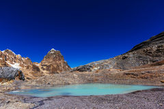 Cordillera. Beautiful mountains landscapes in Cordillera Huayhuash, Peru, South America Royalty Free Stock Image