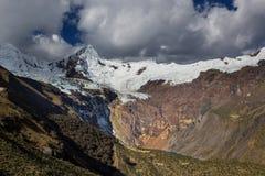 Cordillera. Beautiful mountains landscapes in Cordillera Huayhuash, Peru, South America Royalty Free Stock Photos