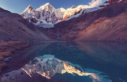Cordillera. Beautiful mountains landscapes in Cordillera Huayhuash, Peru, South America Stock Image