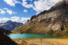 Cordillera. Beautiful mountains landscapes in Cordillera Huayhuash, Peru, South America Royalty Free Stock Images