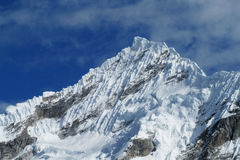 Cordillera Blanca-bergskedja, Peru Arkivbilder