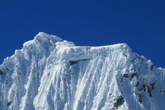 Cordillera Blanca-bergskedja, Peru Arkivfoto