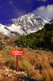 Cordillera Blanca mountains Royalty Free Stock Photo