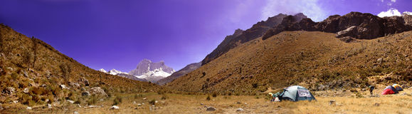 Cordillera Blanca panorama Royalty Free Stock Photos