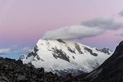 Cordillera Blanca zmierzch Zdjęcie Royalty Free