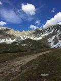 Cordillera capsulada nieve en Colorado imagen de archivo libre de regalías