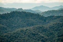 Cordillera cerca de Kewfin en Chae Son National Park, Tailandia Fotografía de archivo libre de regalías