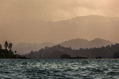 Cordillera. At Cheawlang Dam in Thailand Royalty Free Stock Images
