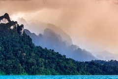Cordillera. At Cheawlang Dam in Thailand Stock Images
