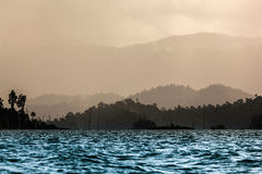 Cordillera. At Cheawlang Dam in Thailand Royalty Free Stock Image