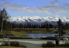 Cordillera de Chugach Imagen de archivo libre de regalías
