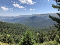 Cordillera de Guadarrama en Madrid imágenes de archivo libres de regalías