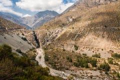 Cordillera de Los Anderna Chile arkivbilder
