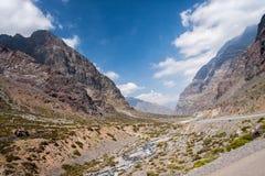 Cordillera de Los Anderna Chile royaltyfri bild