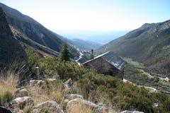 Cordillera de Serra da Estrela Fotografía de archivo