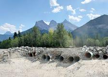 Cordillera de tres hermanas, Canmore Foto de archivo