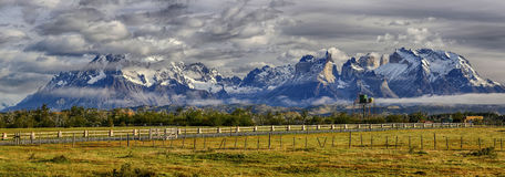 Cordillera del Paine - Torres del Paine N.P. Patagonia, Chile Royalty Free Stock Images