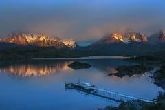 Cordillera del Paine - Torres del Paine - Patagonië - Chili Stock Afbeelding