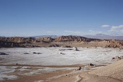 Cordillera del Sal, San Pedro de Atacama, Chili royalty-vrije stock afbeelding